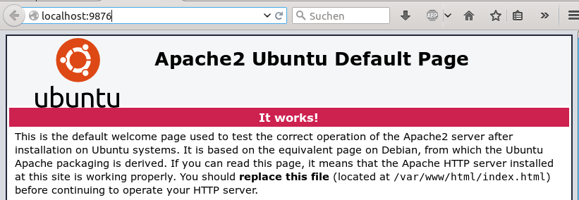 Image of Apache Default Page